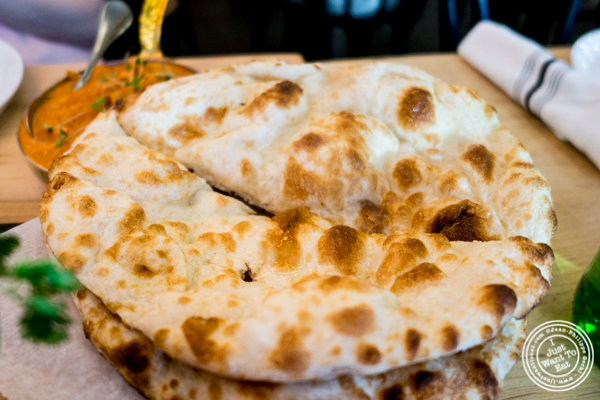 Naan bread at Badshah Modern Indian in Hell's Kitchen
