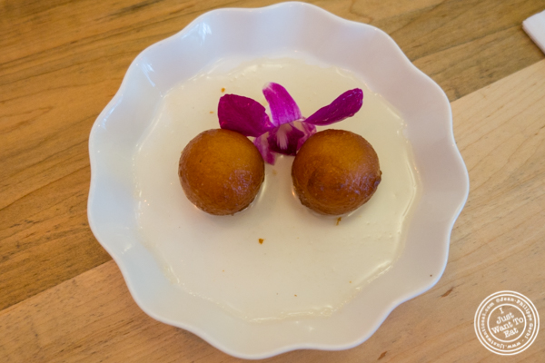 Gulab jamun at Badshah Modern Indian in Hell's Kitchen