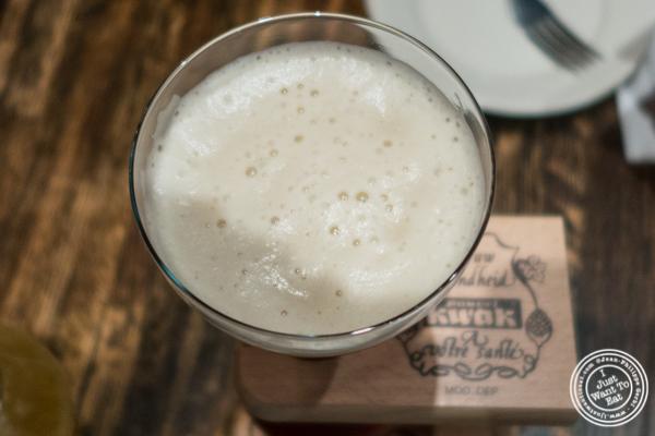 Kwak Belgian beer at Turntable LP Bar and Karaoke in K-Town, NYC