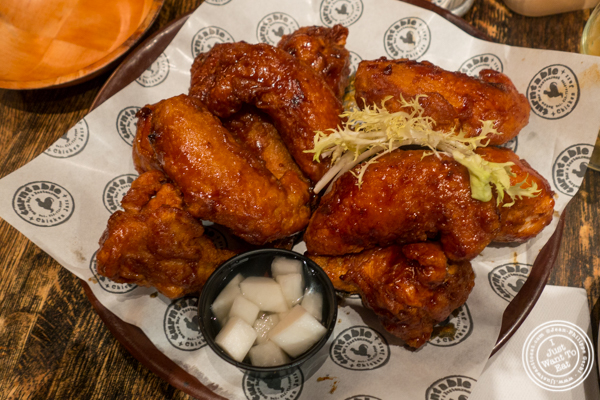 Fried chicken combo at Turntable LP Bar and Karaoke in K-Town, NYC