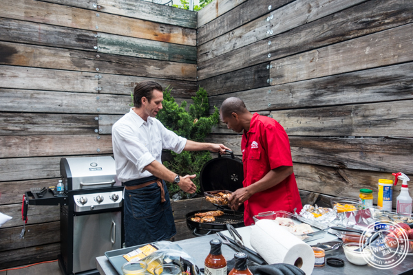 Chef James Briscione and Rocky Stubblefied at The Grilling University with McCormick