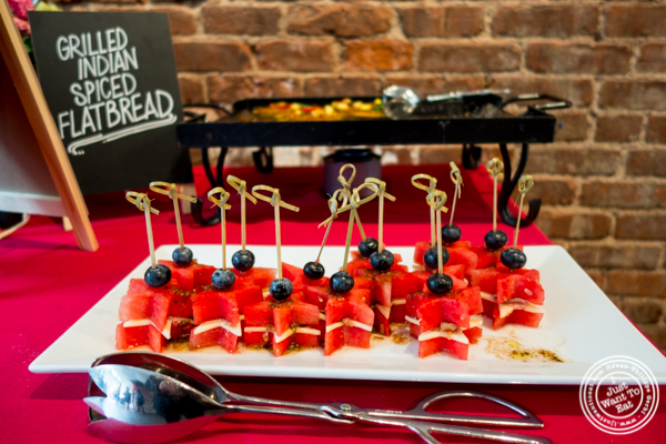 Watermelon caprese skewer at The Grilling University with McCormick