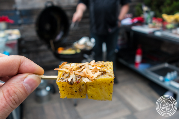 Pineapple steaks with toasted coconut at The Grilling University with McCormick