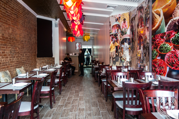 Dining room at Mumbai Masala Indian Grill in Harlem