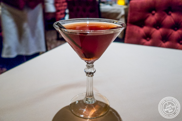 Classic Manhattan cocktail at Uncle Jack's Steakhouse in Midtown West , NYC