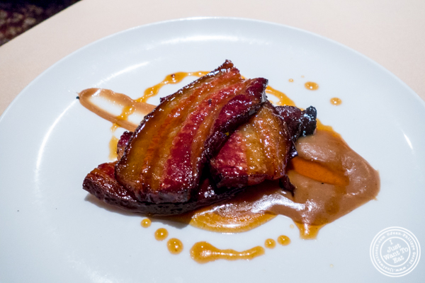 Maple glazed Nueske bacon at Uncle Jack's Steakhouse in Midtown West , NYC