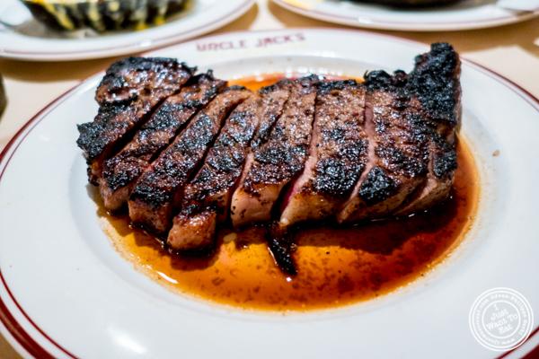 "NY ""Trump"" strip steak at Uncle Jack's Steakhouse in Midtown West , NYC"