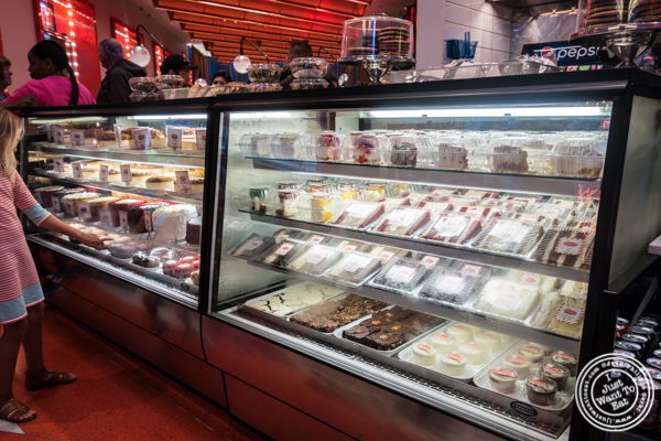 Grab and go at Junior's on 49th St. and Broadway, NYC