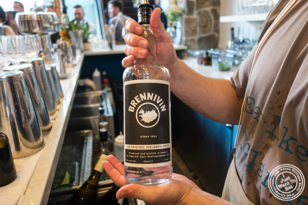 Brennivin at Icelandic Fish and Chips in NYC, NY