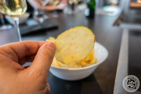 Truffle chips at Urbani Truffle Lab in NYC, NY