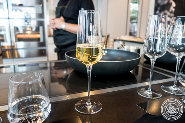 prosecco from Cantine Ferrari Brut at Urbani Truffle Lab in NYC, NY