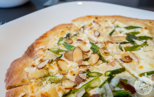 Truffle asparagus pizette at Urbani Truffle Lab in NYC, NY