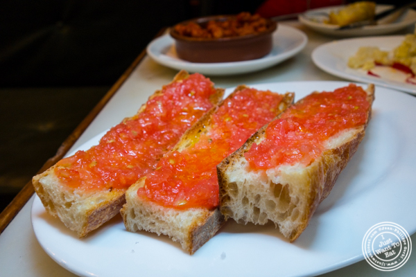 Pan amb tomaca at El Quinto Pino in  Chelsea, NYC
