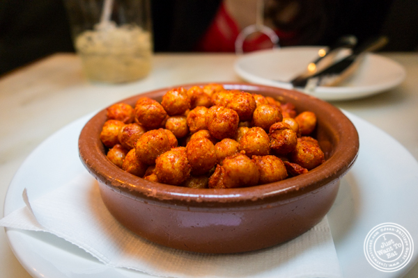 Garbanzos fritos at El Quinto Pino in  Chelsea, NYC
