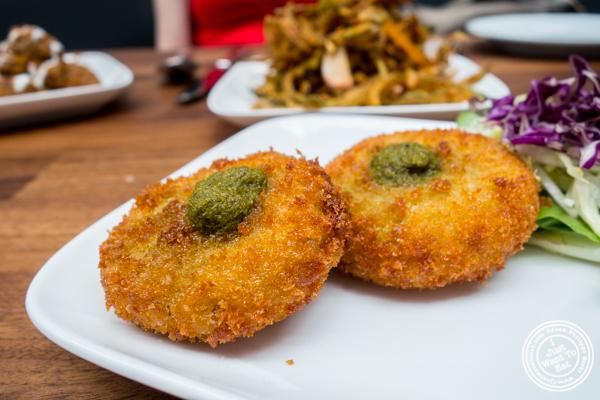 Cauliflower tikki at Imli Urban Indian Food on the Upper East Side, NYC