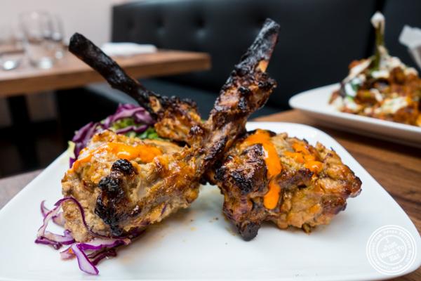 Imli lamb chops at Imli Urban Indian Food on the Upper East Side, NYC