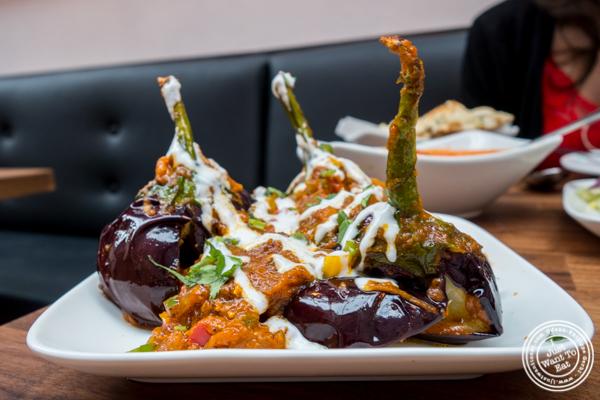 Baby eggplants at Imli Urban Indian Food on the Upper East Side, NYC
