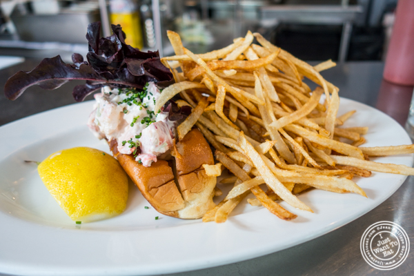 Lobster roll at Mary's Fish Camp in Greenwich Village