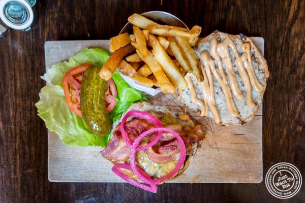 Bacon cheeseburger at White Oak Tavern in Greenwich Village