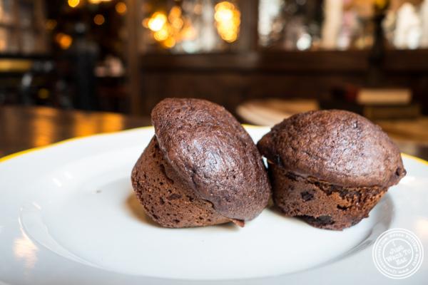 Chocolate muffins at White Oak Tavern in Greenwich Village