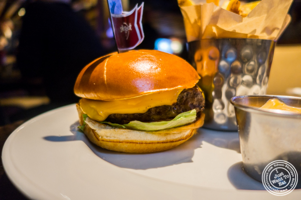 The big cheeseburger at Hard Rock Cafe in Times Square