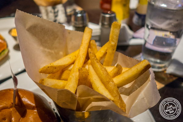 French fries at Hard Rock Cafe in Times Square
