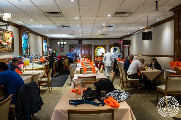 Dining room at Vaibhav in Jersey City