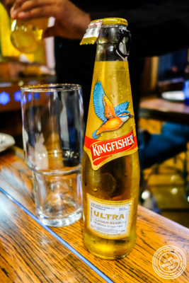 Kingfisher beer at The Great Kabab Factory in the Radisson Blu, Noida
