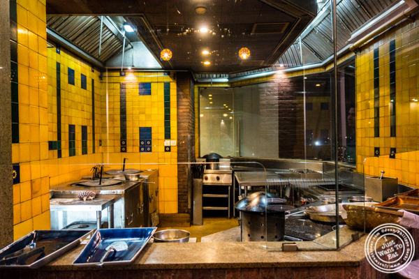 Kitchen at The Great Kabab Factory in the Radisson Blu, Noida