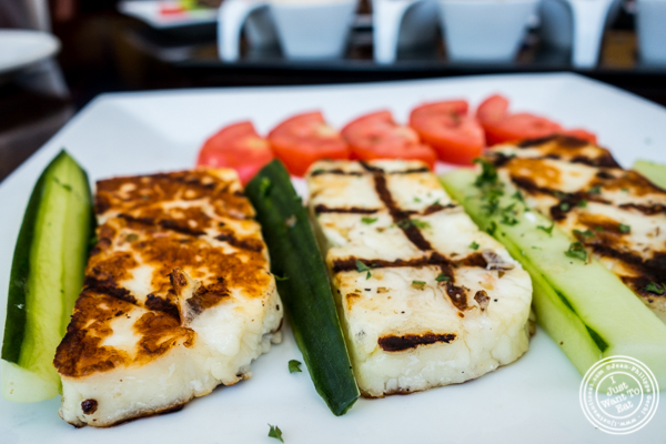 Haloumi cheese at Greek Town in Hoboken, NJ