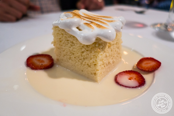 Tres leches at Victor's Cafe in NYC, NY