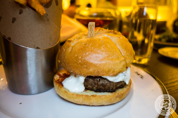 Zakarian burger at The National in NYC, NY