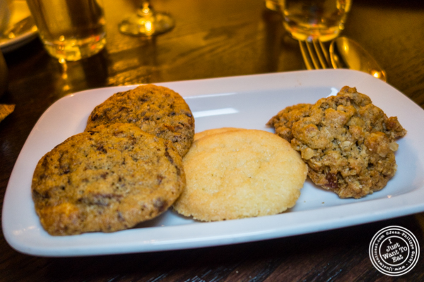 Plate of cookies at The National in NYC, NY