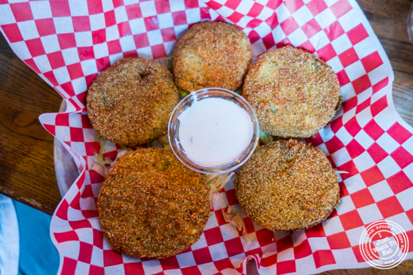 Fried green tomato at Brother Jimmy's BBQ in NYC