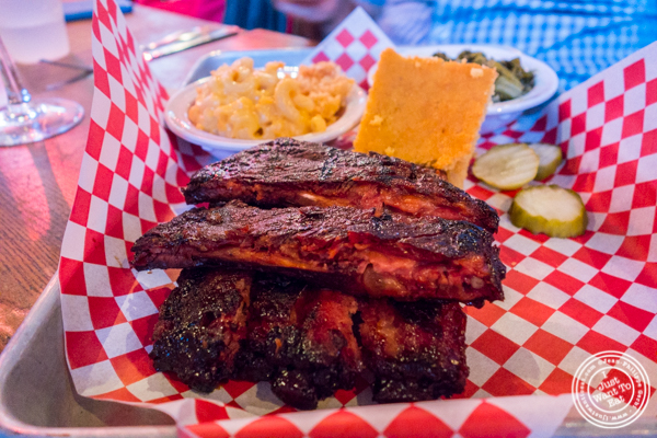 Northern style ribs at Brother Jimmy's BBQ in NYC