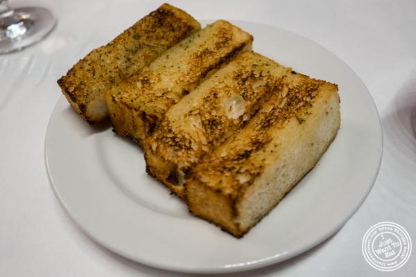 Garlic bread at Michael Jordan's Steakhouse in Grand Central Terminal