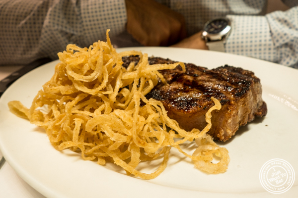 NY Strip at Michael Jordan's Steakhouse in Grand Central Terminal