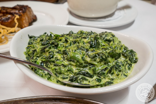 Spinach at Michael Jordan's Steakhouse in Grand Central Terminal