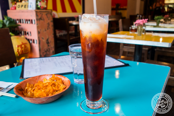 Thai iced tea at The Chinese Club in Williamsburg, Brooklyn