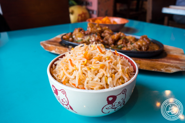 Biryani rice at The Chinese Club in Williamsburg, Brooklyn