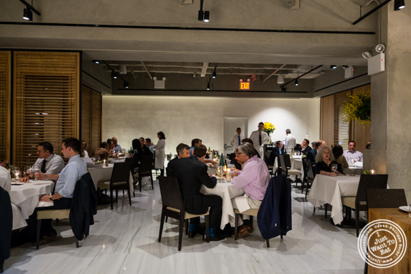 Dining room at Estiatorio Milos in Midtown Manhattan