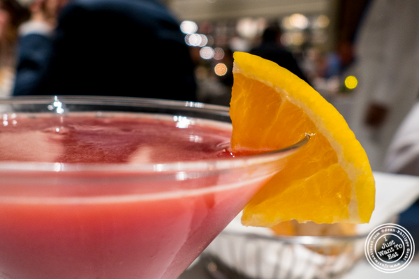Scarlett O cocktail at Estiatorio Milos in Midtown Manhattan