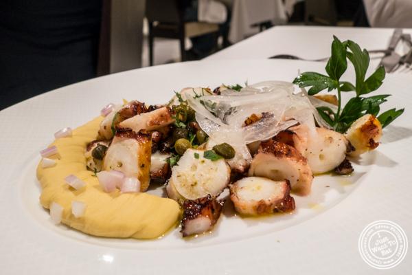 Grilled octopus at Estiatorio Milos in Midtown Manhattan