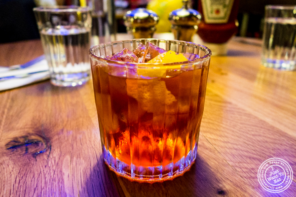 The Boulevardier at Burger and Lobster in Times Square