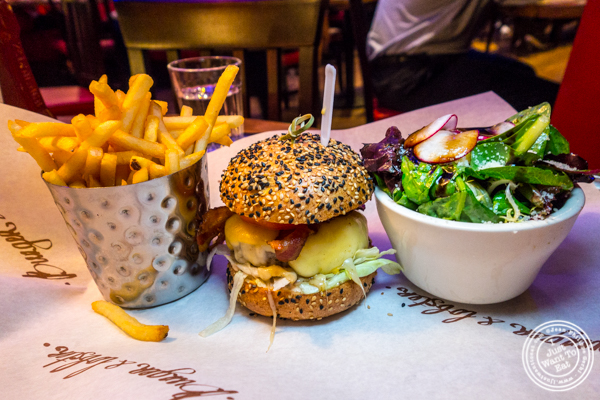 The London burger at Burger and Lobster in Times Square