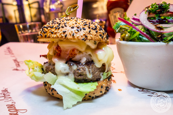 The Beast burger at Burger and Lobster in Times Square