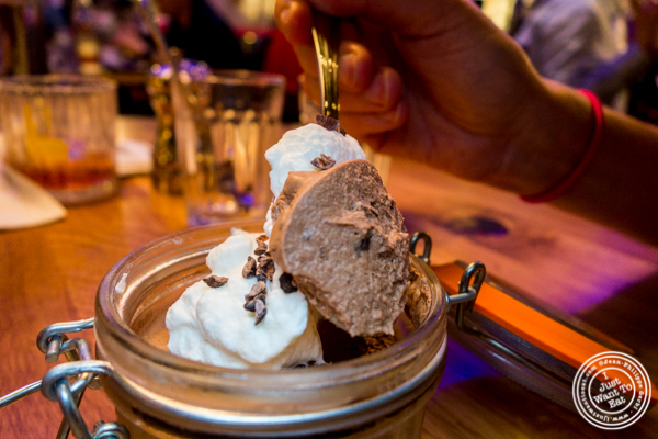Chocolate mousse at Burger and Lobster in Times Square