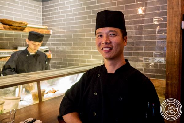 Chef Nick Wang at Amami in Greenpoint, Brooklyn