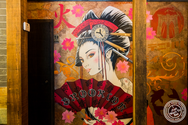 Geisha Painting at Amami in Greenpoint