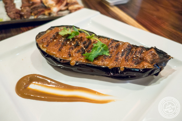 Grilled miso eggplant at Amami in Greenpoint, Brooklyn